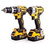 <span class='highlight'>Dewalt</span> DCK266P2T-<span class='highlight'>GB</span> <span class='highlight'>XR</span> Combi Drill and Impact Driver <span class='highlight'>Brushless</span> Kit in TSTAK Box, 1 W, 18 V, Yellow/Black
