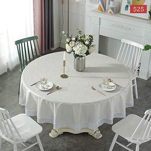 PhantasyIsland.com Mantel de Lino y algodón Resistente al Polvo con Borla para Cocina, Comedor, Granja, decoración de Mesa, 152CM