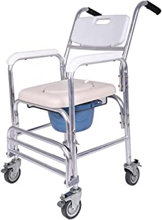 Clearance! Folding Commode Bath Chair Folding Commode Over Toilet and Toilet Seat For Adults Handicap(Ship from USA)