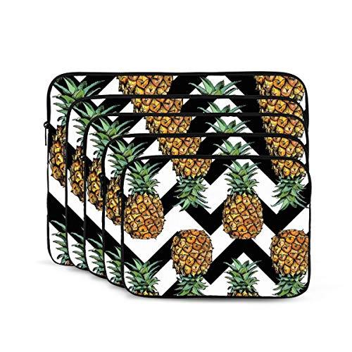 KUUDJIT Waves Pineapple 12/13/15/17 Inch Laptop Sleeve Bag for MacBook Air 13 15 MacBook Pro Portable Zipper Laptop Bag Tablet Bag,Diving Fabric,Waterproof