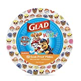 Glad for Kids Paw Patrol Emoji Paper Plates, 20 Count, 8.5 Inches | Paw Patrol Plates for Kids | Heavy Duty Disposable Soak Proof Microwavable Paper Plates for All Occasions