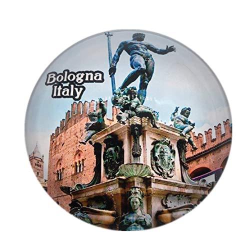 Poseidon Brunnen Bologna Italien Kühlschrankmagnet 3D Kristallglas Tourist City Reise Souvenir Sammlung Geschenk Starke Kühlschrank Aufkleber