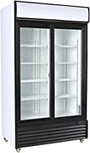 Procool Refrigeration Double Sliding Glass 2 Door Upright Display Beverage Cooler Merchandiser; 35 Cubic Ft, 45