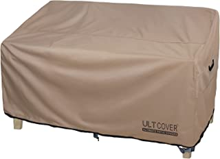 ULTCOVER Waterproof Outdoor Deep Seat Sofa Bench Cover 62W x 40D x 35H inch Patio Furniture Loveseat Cover