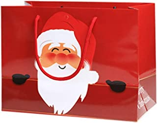 Iusun Merry Christmas Santa Claus Candy Bags Printing Cookies Baking Pouch Xmas Apple Storage for Chocolates Candies Biscuits Home Decor Supplies Gift