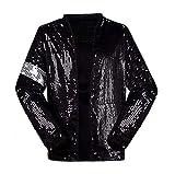 Michael Jackson Billie Jean Jacket Costume with Glove (Kids M, Black)