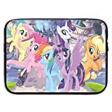 Anime My Rainbow Pony Laptop Sleeve Case 13 Inch Neoprene Protective Case/Notebook Computer Pocket Case/Tablet Briefcase Carrying Bag Compatible/Soft Carrying Zipper Bag