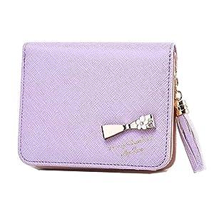 【フェアーフェアリー】 Fair Fairy 財布 二つ折り ミニ財布 レディース リボン かわいい プレゼント 151124 (ラベンダー)