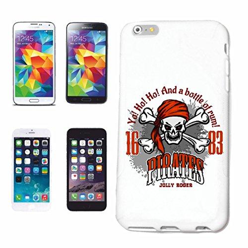 Reifen-Markt Hard Cover - Funda para teléfono móvil Compatible con Apple iPhone 6+ Plus Una Botella de Ron CRÁNEO del Pirata CORSARIO CORSARIO del Pirata Cráneo es