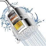 Granarbol - Soffione doccia filtrato, 3 modalità ad alta pressione, filtro doccia a 15 fasi per acqua dura, rimuove cloro e sostanze nocive, filtro per soffione ad alta potenza