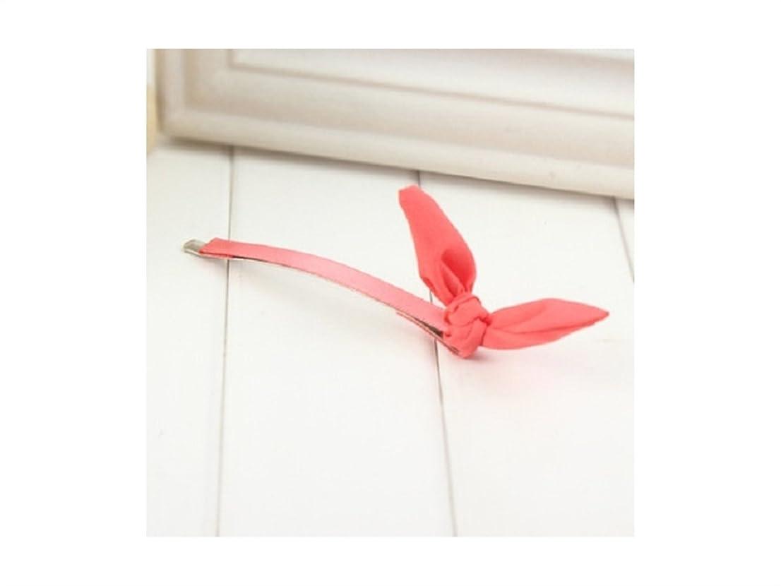 政権モーター解明するOsize 美しいスタイル ウサギイヤホンクリップサイドクリップヘアピンヘアアクセサリー(ピンク)