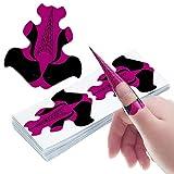 Xrten 200 Pezzi Unghie Sagome,Cartine per Unghie Gel Ricostruzione Strumenti per Nail Art