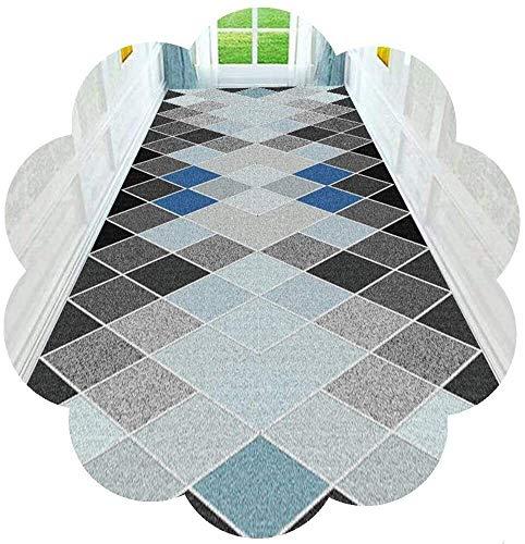 Moderne Flur Läufer Bereich Teppich Squares Pattern Design Cuttable Mit Anti-Rutsch-Unterlage for Küche Terrasse Schlafzimmer (Farbe: A, Größe: 80x650cm), Größe: 120x700cm, Farbe: A