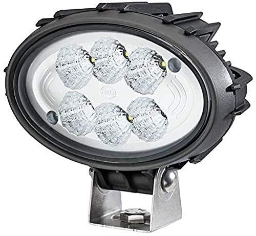 Hella 1GA 996 761-111 Arbeitsscheinwerfer - Oval 100 Compact - LED - 12V/24V - 1850lm - Bügelbefestigung - hängend/stehend - weitreichende Ausleuchtung - Deutsch