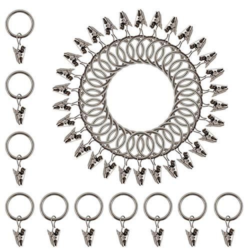40 Vorhang Clip Stark Metall Vorhang Ring Clips 2,5 cm Innendurchmesser Silber Bild Dekoration Duschvorhang