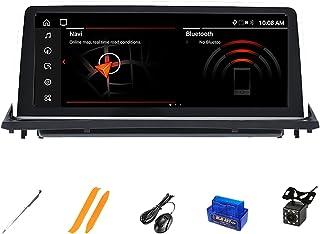 HAZYJT 4 Go 128 Go Android 10.0 Autoradio Lecteur Multimédia Écran De Navigation GPS Stéréo Compatible avec B-MW X5 E70 X6...