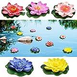 Perfetsell - Fiori galleggianti per laghetti, in schiuma artificiale, fiori di loto galleg...