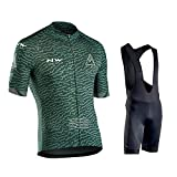 Hplights Conjunto Ropa Equipacion, Ciclismo Maillot Y Culotte Pantalones Cortos con 9D Gel Pad para Verano Deportes Al Aire Libre Ciclo Bicicleta,A,XXL