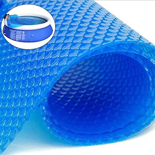 Zwembad Zonneklep, Rechthoekig | Solar Film Dikte 400 Μm | Solar Tarpaulin Kan Op Maat Worden Gesneden | Zwembadverwarming Voor Waterverwarming,Blue-5.5 * 2.5M