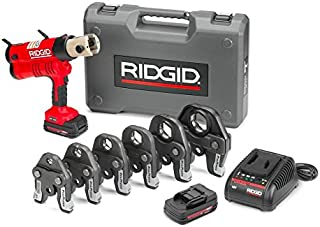 Ridgid GIDDS2-813276 RIDGID RP 340-B Press Tool Kit - 43358 Hydraulic Crimping Tool With ProPress Tool Jaws - PureFlow, MegaPress, Standard Series Jaws and Rings Compatible (Cordless)