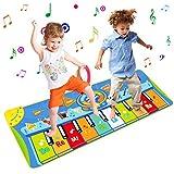 Miavogo Tanzmatte Kinder, Piano Mat Klaviermatte 8 Einstellbare Lautstärke + 8 Instrumente + 10 Keyboard Musik Matte für Jungen Mädchen -...