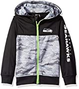 Includes one officially licensed Seattle Seahawks Hooded jacket Polyester surgent fleece Seahawks logo with screen print Country of origin: Cambodia