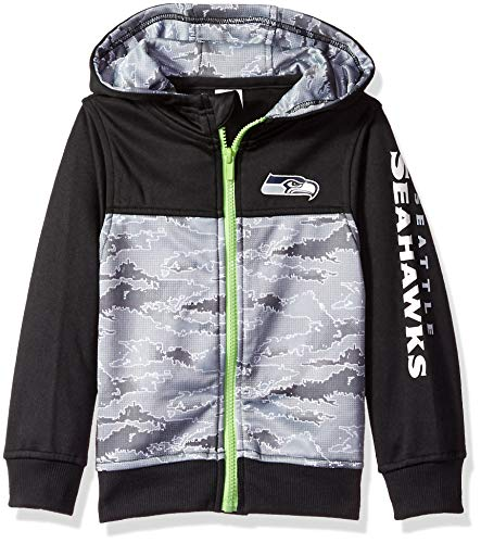NFL Seattle Seahawks Unisex Hooded Jacket, Black, 4T