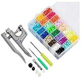 Kit Completo Alicates de Presión + 375 Botones de Resina T5 en 25 Colores...