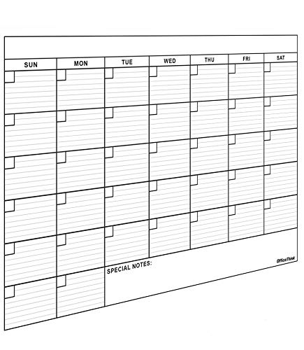 Jumbo Dry Erase Laminated Wall Calendar, Huge 36 Inch by 48 Inch Size, Monthly Planner for Home...