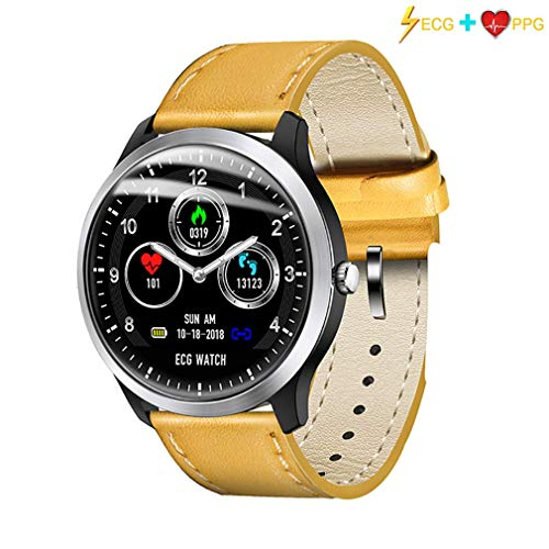 HYCy Bluetooth Smart Watch, Wasserdichter IP67 Fitness Tracker 1,3 Zoll IPS Touchscreen, Aktivitauml;ts-Tracker mit Pulsmesser Schritte fuuml;r Mauml;nner Android iOS