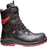 Base 1 Calzado de seguridad, Negro y rojo, 39
