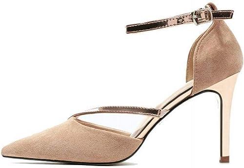 Honneury zapatos de mujer de tacón Alto con Punta de tacón de Aguja y tacón Alto de Metal, zapatos de mujer Delgados Sandalias para mujer