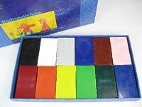 シュトックマー 蜜ろうクレヨン ブロック12色 紙箱