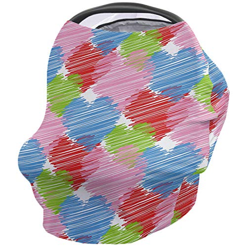 Great Price! Valentine's Day Nursing Cover for Baby Breastfeeding, Soft Breathable Stretchy Carseat ...