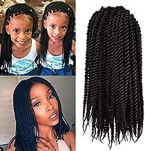 Micro Crochet Braids Kids (1 Pack) Crochet Twist Synthetic Hair Extension 10 inch Senegalese Mambo Twist (1B)