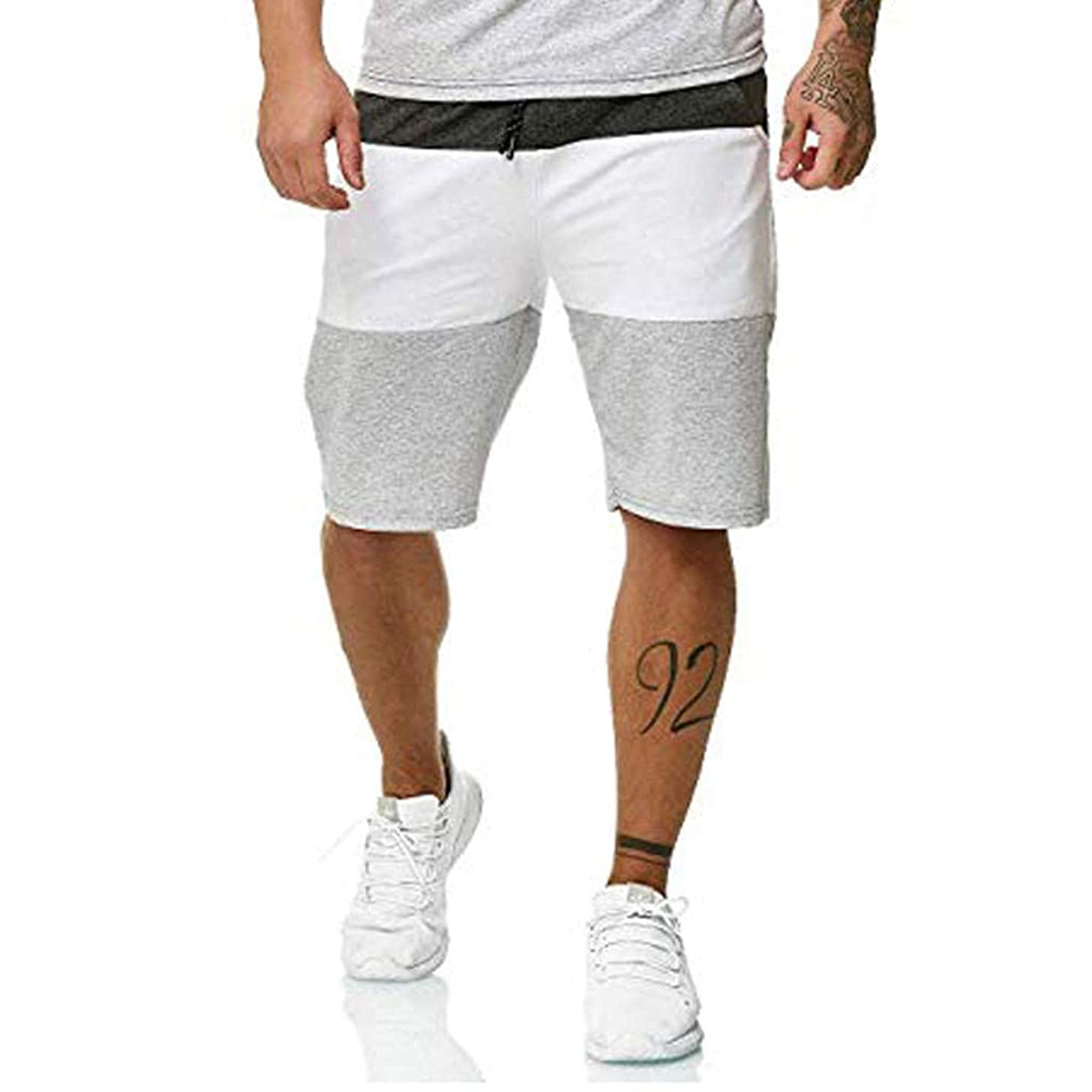 Men Gym Shorts, Allywit Summer Elastic Waist Sport Shorts Quick Dry Breathable Workout Running Short Pants