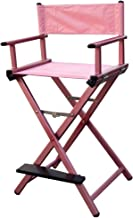 MAYLAN Lightweight Aluminum Portable Director Makeup Artist Chair PINK