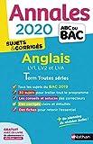 Annales ABC du Bac 2020 Anglais Term Toutes séries