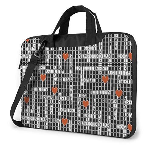 Laptop-Hülle, Kreuzworträtsel Aktentasche Messenger Notebook Computer-Tasche 15,6 Zoll