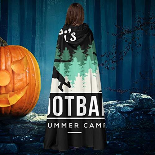 AISFGBJ Academies Messis Ftbol Camp Unisex Navidad Halloween Bruja Caballero con Capucha Albornoz Vampiros Capa Cosplay Disfraz
