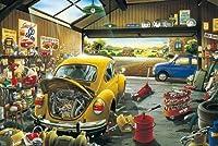 ジグソーパズル -自動車修理店1000個の木製 教育的 のパズルの装飾のおもちゃ (6歳以上が適しています)(50*75cm)