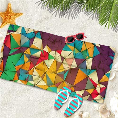IAMZHL Microfine Toalla de Playa de Microfibra Gran Gimnasio Toalla de Piscina Deportiva Mujeres 70x140 Gran Estera de Yoga Moda Verano Ropa de Surf Manta-Red Beach towel1-100x180cm