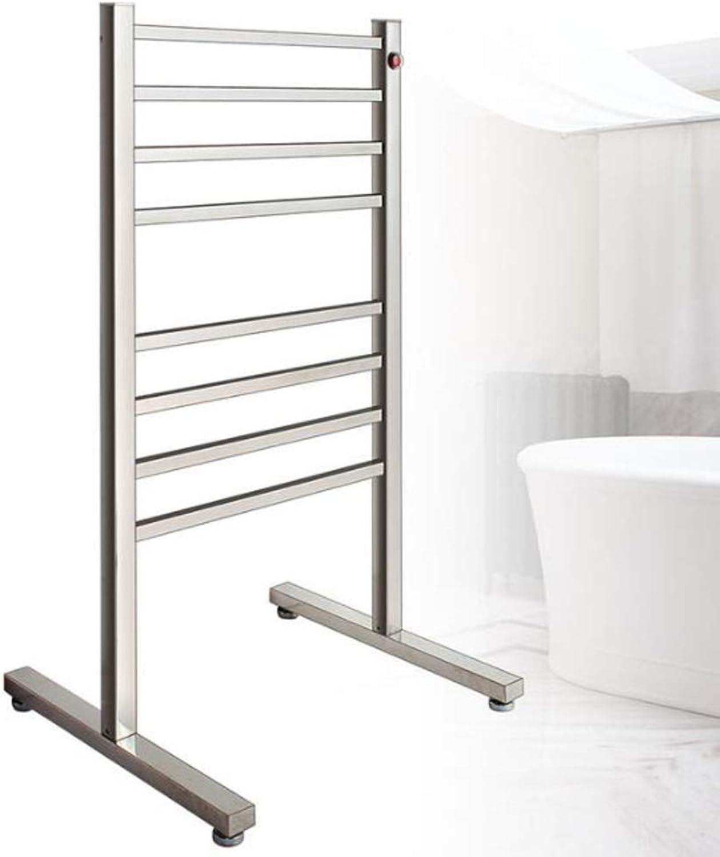 HUIJIN1 Handtuchwrmer aus Edelstahl 304, tragbarer elektrischer Handtuchwrmer, luxuriser beheizbarer Handtuchhalter mit Metallstahlrahmen, 8 Stangen, EIN Knopfschalter