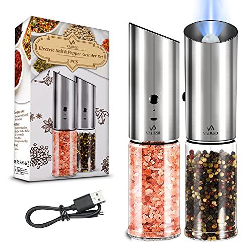 Macinapepe Valieno 2 pezzi Macinapepe elettrico Gravity, funzionamento automatico macina sale e pepe...