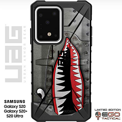 UAG Samsung Galaxy S20+ Plus [6.7' Screen] Limited Edition Case Urban Armor Gear by EGO Tactical - P-40 TigerShark Jaws Teeth Warthog