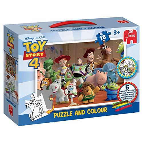 Jumbo- Disney Pixar Toy Story 4-Puzzle & Colour Puzzle & Color, Multicolor (19754)