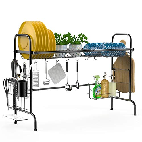 Over The Sink Dish Drying Rack iSPECLE Large Stainless Steel...