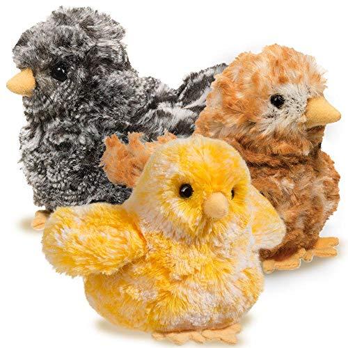 Douglas Black Multi Chick Plush Stuffed Animal