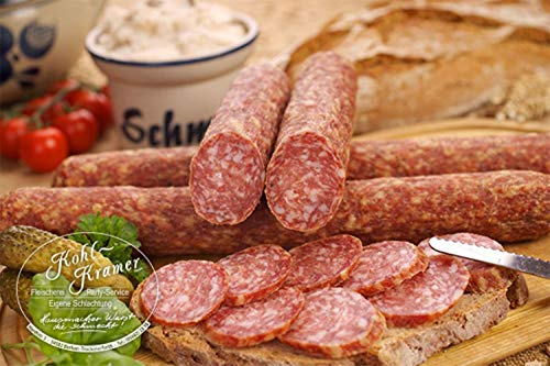 Die Weltmeister Wurst! Ahle Wurst nordhessische Spezialität – Stracke edel Salami luftgetrocknet...