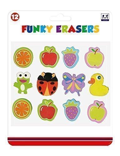 The Home Fusion Company Bambini Bimbi 12 x Funky GOMME GOMME RIEMPITORE di Sacco Regalo Regalo di Compleanno